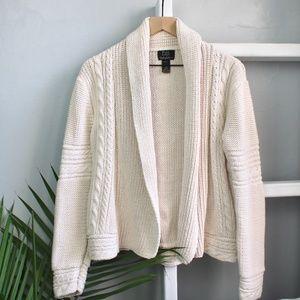 Fresh Produce Cream Knit Open Sweater Size M/L